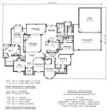 new one story house plans excellent design 14 open one story 5 bedroom house plans floor