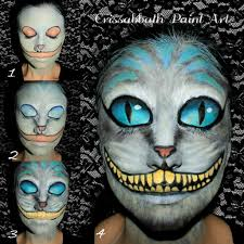 cheshire cat make up by crissabbathpaintart deviantart com on