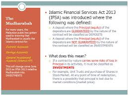 the mudharabah the deposits and the investment accounts islamic