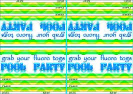 pool party invitations a4 free wallpaper