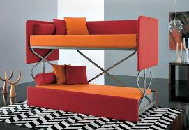 Bunk Bed With Sofa Bed Minimalist Family Room With Convertible Sofa Bunk Bed Design