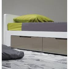 Trumble Bed Mobital Jack N Jill Single Trundle Bed In High Gloss White Bed