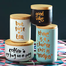 Funky Kitchen Canisters Good Vibes