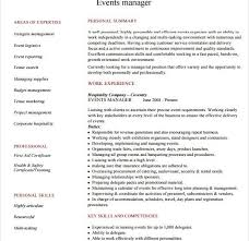 Event Planner Resume Template Events Manager Resume Event Manager Resume Templates Examples