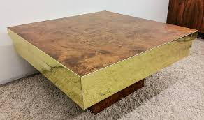 burl coffee table for sale pierre cardin brass and burl coffee table at 1stdibs