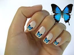 beautiful mod butterfly nail art waterslide by arwenmooredesigns