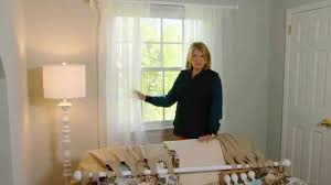 Properly Hanging Curtains Video How To Choose And Hang Curtains Martha Stewart