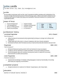 Programmer Resume Template Computer Programming Resume Example Website Software