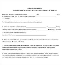12 commission agreement template u2013 free sample example format