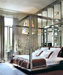 Mirror Bed Frame Mirrored Canopy Bed Apartment Bedroom Mirror Furniture Bed Frame