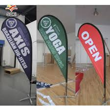 Flag Displays Trade Show Exhibition Display Fabric Feather Teardrop Rectangle