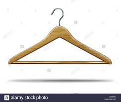 retail clothing hanger as a symbol of clothes closet storage and