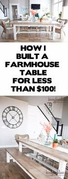 Diy Farmhouse Dining Room Table 38 Diy Dining Room Tables Page 3 Of 4 Diy