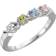 mothers rings with 4 stones 4 hugs and kisses mothers ring