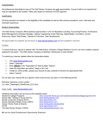 Resume Not Required Walt Disney Resume Free Resume Example And Writing Download
