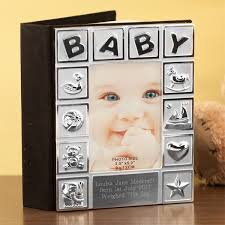 3 5 x5 photo album personalised silver plated baby album the gift experience