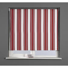 stripe designer blackout roller blind red 120cm kitchen