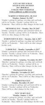 the city of titusville florida solid waste schedule