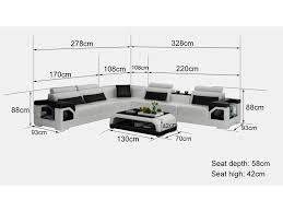 dimension d un canapé grand canapé d angle en cuir nimes l 6 places lit convertible op
