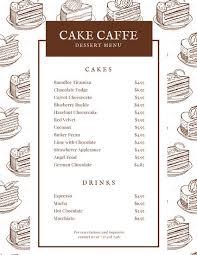 dessert menu templates canva