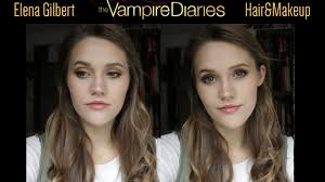 elena gilbert makeup and hair tutorial the vampire diaries youtube