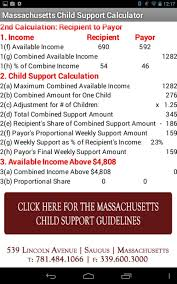 Massachusetts travel calculator images Ma child support calculator android apps on google play