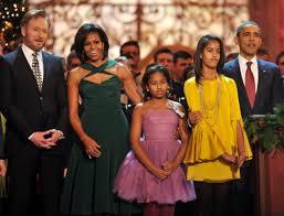 the obama u0027s celebrate christmas onstage with conan o u0027brien the