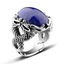 mens vintage rings images Engraved lapis lazuli vintage silver mens promise ring jpg