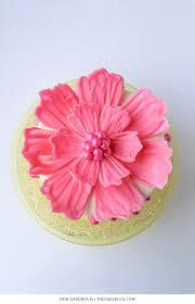 How To Make Decorative Chocolate Chocolate Flower Cake