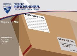registered mail usps office of inspector general