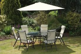 Metal Garden Table Rattan Outdoor 8 Seater Garden Furniture Dining Set In Mixed Brown