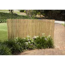 gardenpath 1 2 in outside peel bamboo fence 4 ft h x 8 ft l