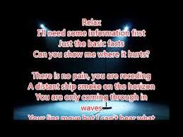 Pink Floyd Lyrics Comfortably Numb Comfortably Numb Pink Floyd Lyrics Youtube