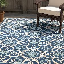 Indoor Outdoor Rug Alcott Hill Carleton Navy Indoor Outdoor Area Rug Reviews Wayfair