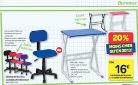 ordinateur de bureau chez carrefour carrefour promotion chaise de bureau ou table d ordinateur