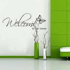 60x28 welcome to our home wall decal vinyl wall art graphics words