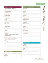 Pantry Inventory Spreadsheet Free Printable Pantry Master List
