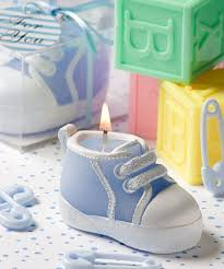candle baby shower favors the brat shackblue baby sneaker candle by fashion craft