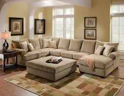 big brown living room seating area with beautiful sectional sofa