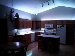 Cool Kitchen Lighting Ideas Led Kitchen Lighting Cool Blue Led Light Under And Up Cabinet