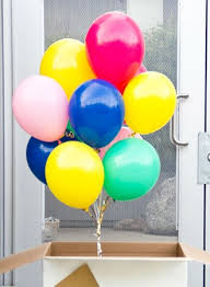 balloon in a box big box of helium balloons tinysurprise gifts