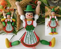 jumping jack toy wood pull string doll m gschnitzer austria