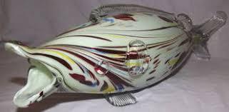 italian murano venetian glass fish vase ornament