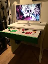 Gaming Station Computer Desk Micke Computer Desk Arcade Stick Hack Ikea Hackers