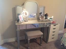 accessories contemporary makeup dressing bedroom with mirrored