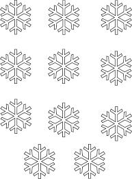 handprint snowflakes fingerprint template white chocolate frozen