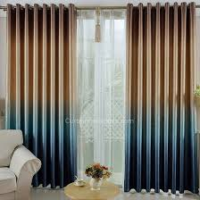 brown and blue gradient color cool thick polyester blackout