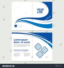 brochure cover inner pages design template stock vector 322673483