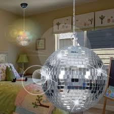 suspension chambre d enfant miroir boule disco ø220mm led enfant chrome disco le lumière