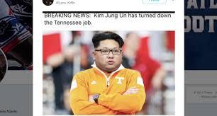 Tennessee Football Memes - lane kiffin mocks tennessee with kim jong un meme as vols